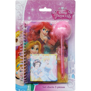 SET DIARIO INFANTIL 3PCS PRINCESS
