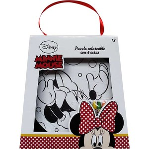 PUZZLE COLOREABLE CON 6 CERAS MINNIE