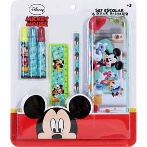 SET ESCOLAR 6 PZAS PLUMIER MICKEY