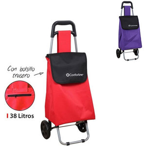 CARRO COMPRA 2 RUEDAS 38L - 2 COLORES SURTIDOS