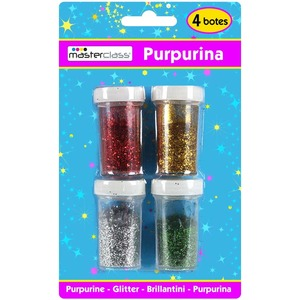 SET 4 BOTES PURPURINA COLORES SURTIDOS
