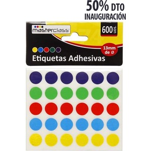 ETIQUETAS ADHESIVAS COLOR 20H X 30PCS