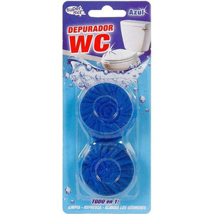 SET 2 DEPURADOR WC AZUL 50GR SUPERNET