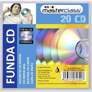 SET 20 FUNDAS CD PAPEL