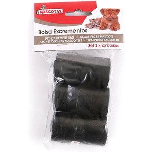 SET 3 BOLSAS EXCREMENTOS MASCOTAS 25UDS