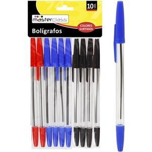 SET 10 BOLÍGRAFOS COLORES SURTIDOS