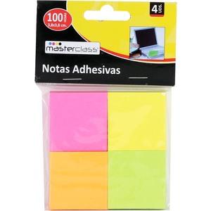 NOTAS ADHESIVAS 4PC 100 HOJAS MASTERCLASS