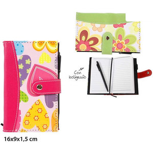 AGENDA CON BOLI DECORADA - COLORES SURTIDOS