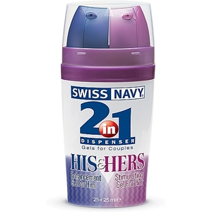 SWISS NAVY 2-IN-1 HIS & HERS GEL ESTIMULANTE PARA PAREJAS