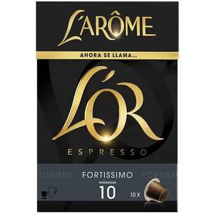 FORTISSIMO LAROME 10 CÁPSULAS DE CAFÉ ESPRESSO, INTENSIDAD 10