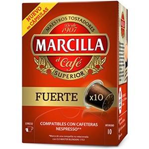 FUERTE MARCILLA SUPERIOR, 10 CÁPSULAS COMPATIBLES NESPRESSO