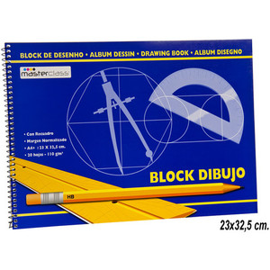BLOC DIBUJO A4 20HOJAS 110GR
