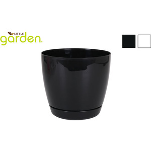 MACETA C/PLATO 21CM LITTLE GARDEN - 2 COLORES SURTIDOS