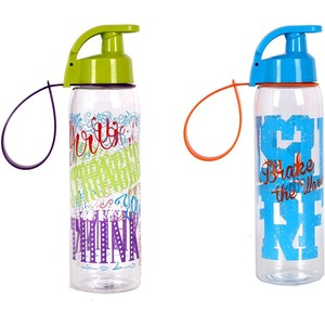 BOTELLA SPORT DECORADA 500ML - COLORES SURTIDOS