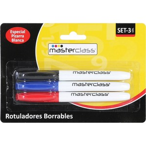 SET 3 ROTULADORES BORRABLES