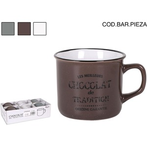 MUG 235cc CHOCOLAT DE TRADITION - COLORES SURTIDOS