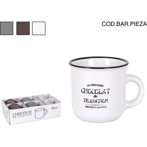 TAZA 125cc CHOCOLAT DE TRADITION - COLORES SURTIDOS