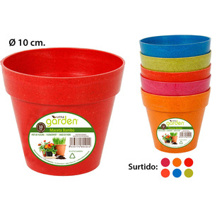 MACETA 10CM BAMBU LITTLE GARDEN - COLORES SURTIDOS
