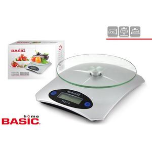 BÁSCULA COCINA DIGITAL 5KG BASIC HOME