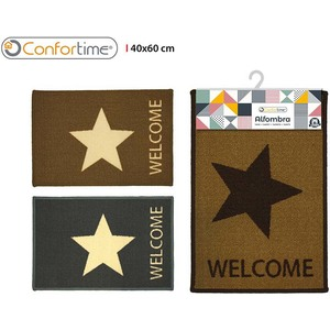 ALFOMBRA 40X60CM STAR WELCOME CONFORTIME - 3 DISEÑOS SURTIDOS