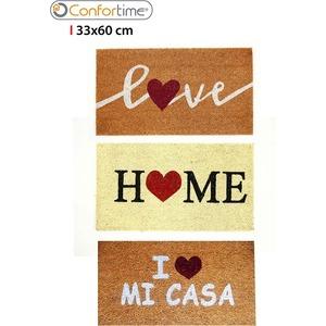 FELPUDO COCOGOMA 33X60CM I LOVE CONFORTIME - DISEÑOS SURTIDOS