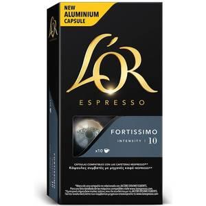 FORTISSIMO L´OR, 10 CÁPSULAS ALUMINIO COMPATIBLES NESPRESSO