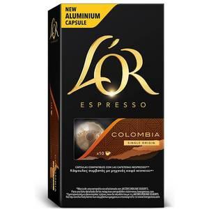 COLOMBIA L´OR, 10 CÁPSULAS ALUMINIO COMPATIBLES NESPRESSO