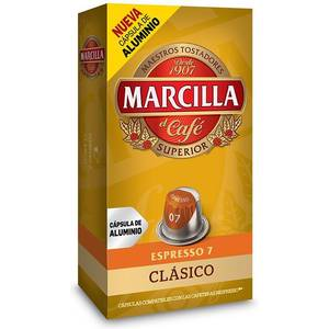 CLASSICO, 10 CÁPSULAS ALUMINIO MARCILLA