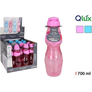 BOTELLA SPORT LUX 700ML QLUX - COLORES SURTIDOS
