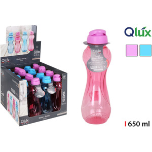 BOTELLA SPORT LUX 650ML QLUX - COLORES SURTIDOS