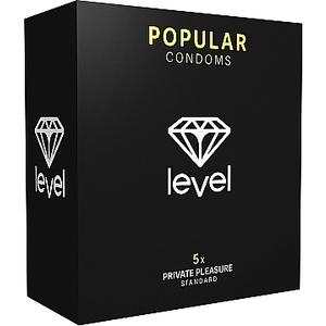 PRESERVATIVOS LEVEL POPULAR CONDOMS - 5UDS