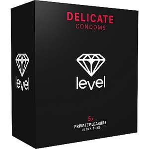 PRESERVATIVOS LEVEL DELICATE CONDOMS - 5UDS