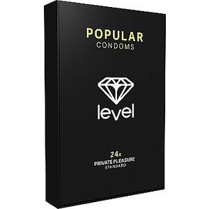 PRESERVATIVOS LEVEL POPULAR CONDOMS - 24UDS
