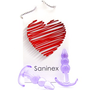 SANINEX PLUG INITIATION 3D PLEASURE - ECONOMIC LINE - MORADO