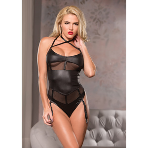 CRS NECK MESH TEDDY - NEGRO