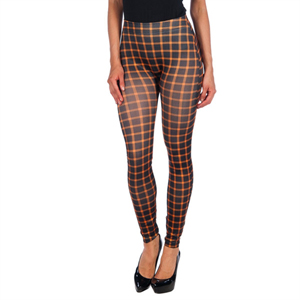 INTIMAX BLACK LEGGING WITH ORANGE STRIPES