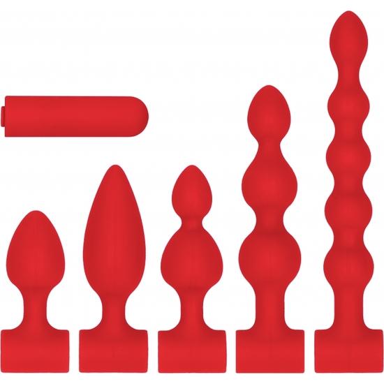 KIT DE SILICONA ROJO RECARGABLE USB - ROJO