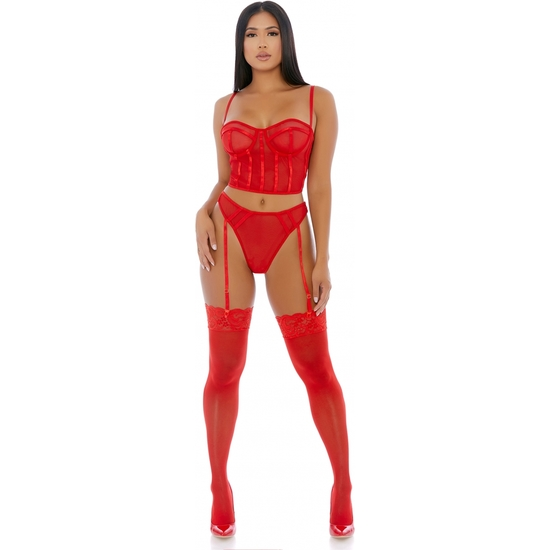 PUT O-RING ON IT LINGERIE SKIRT ROJO (PEQUE�A - )