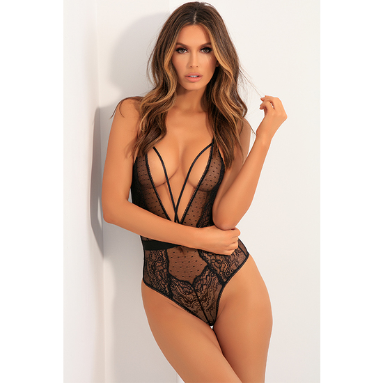 AIM TO TEASE BODYSUIT NEGRO CUELLO V (PEQUE�A / MEDIANA - )