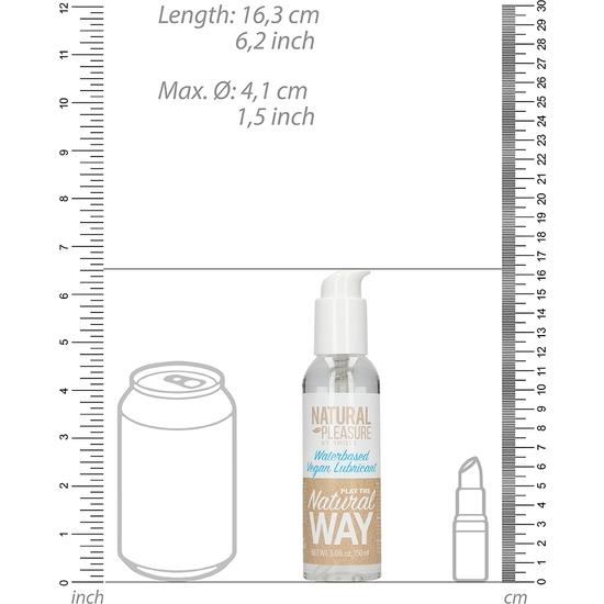 NATURAL PLEASURE - LUBRICANTE VEGANO A BASE DE AGUA- 150 ML (1)