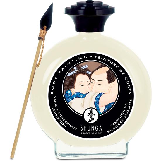 Shunga pintura corporal de vainilla y chocolate - Pintura color vainilla ...