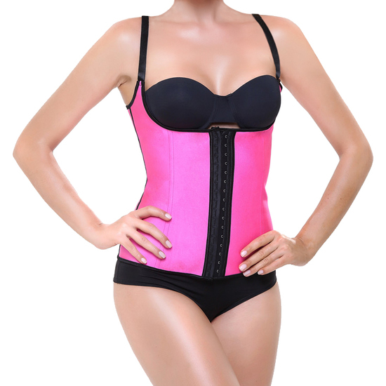 CORSET LATEX SHAPE FUCSIA (M - )