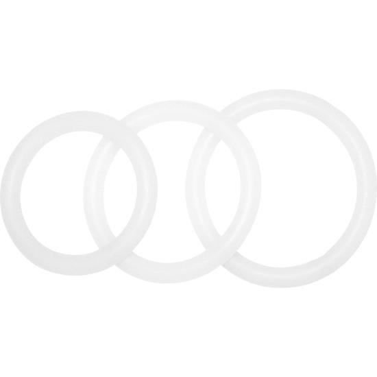 POTENZPLUS KIT DE 3 ANILLOS PARA EL PENE (S, M, L) - TRANSPARENTE