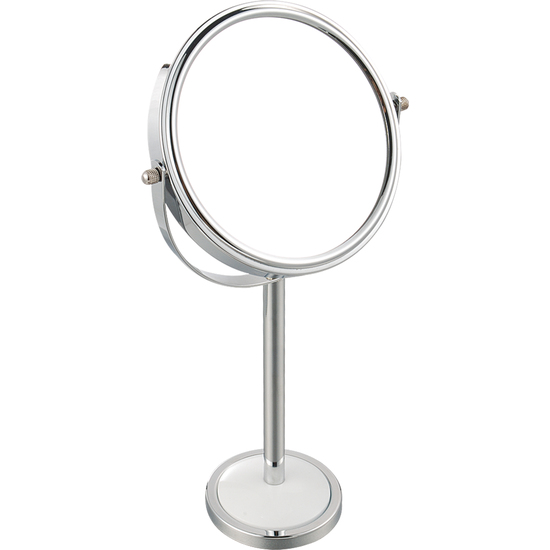 Espejo redondo de aumento x2 de metal cromado - Espejo redondo bano ...