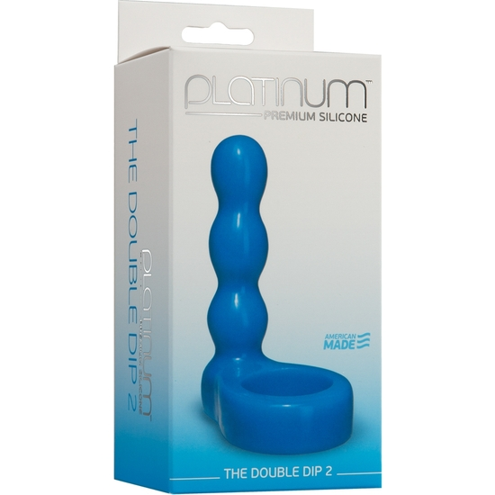 THE DOUBLE DIP 2 PLUG / DILDO AZUL (1)