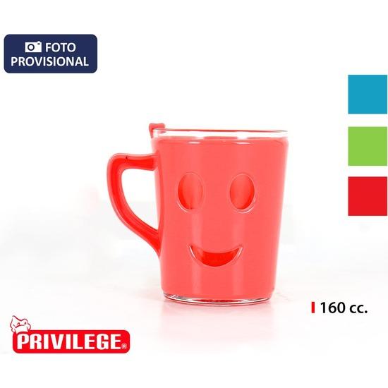 JARRA MUG SMILE 160CC PRIVILEGE - COLORES SURTIDOS