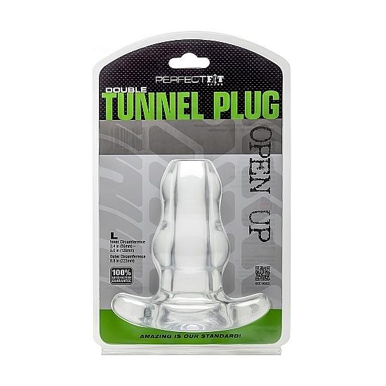 DOUBLE TUNNEL PLUG LARGE TRANSPARENTE (1)