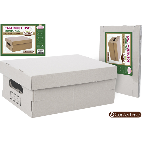 CAJA MULTIUSOS BROWN 36,5X28,5X16,5 CONFORTIME