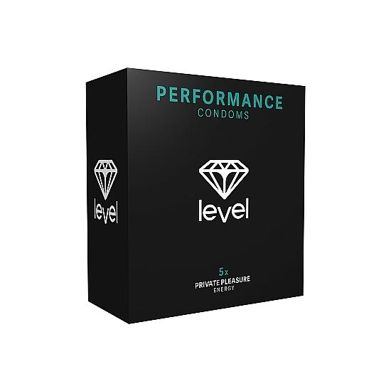 PRESERVATIVOS LEVEL PERFORMANCE CONDOMS - 5UDS