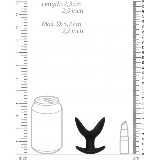 BUTT PLUG - SPLIT 3 - 6CM - NEGRO (3)